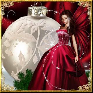 cute fairy on christmas