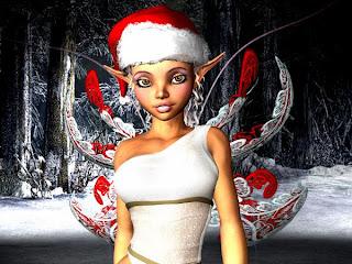 animated christmas fairy