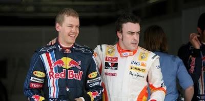 Alonso brilhou na Q3, colocando-se no meio dos Red Bull