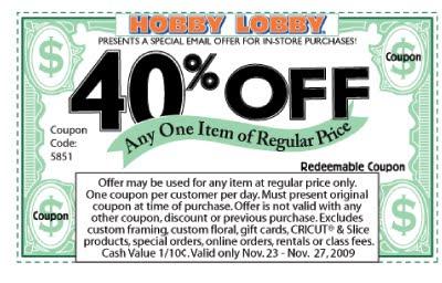 hobby lobby  coupon