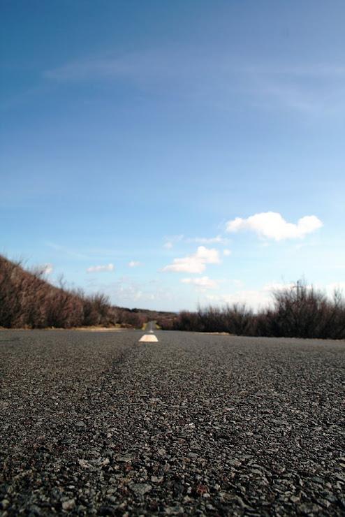 Estrada desfocada...
