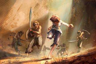 Elika flees armed pursuers