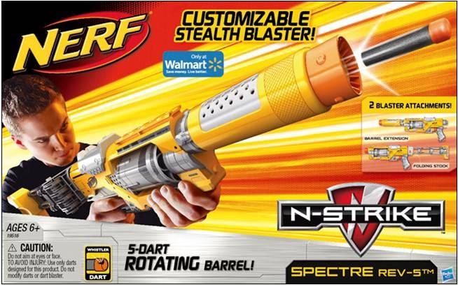 New Nerf Blaster Alert N Strike Spectre Rev 5 Blaster