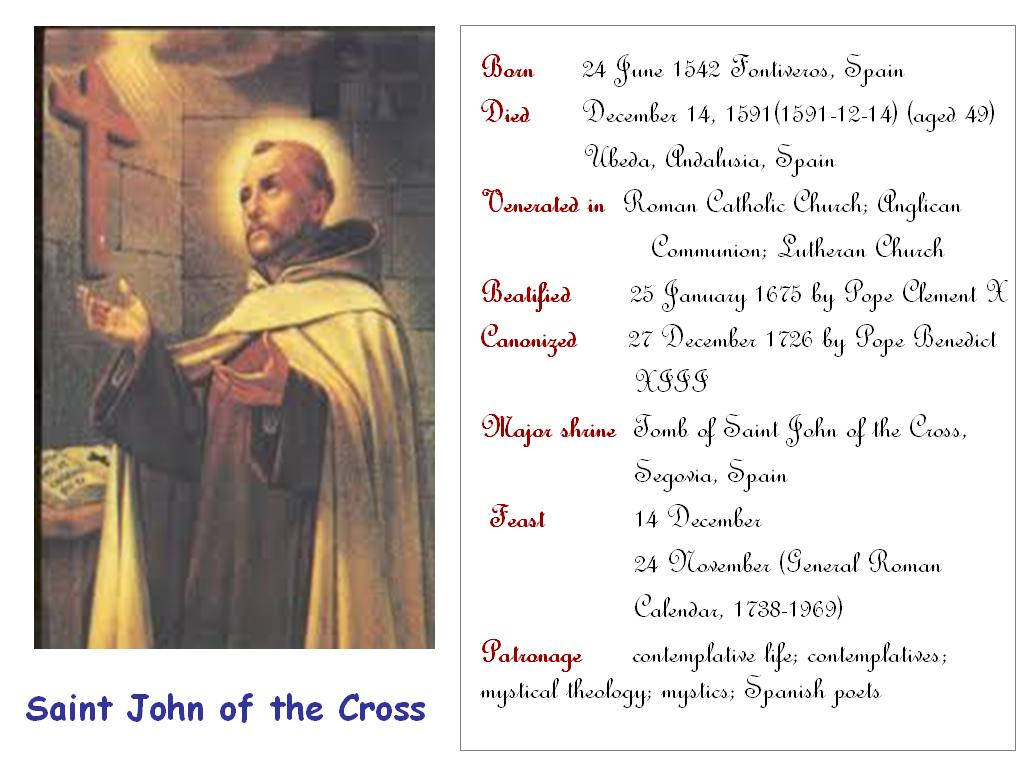 St John Of The Cross Quotes All Saints Saint John Of The Cross