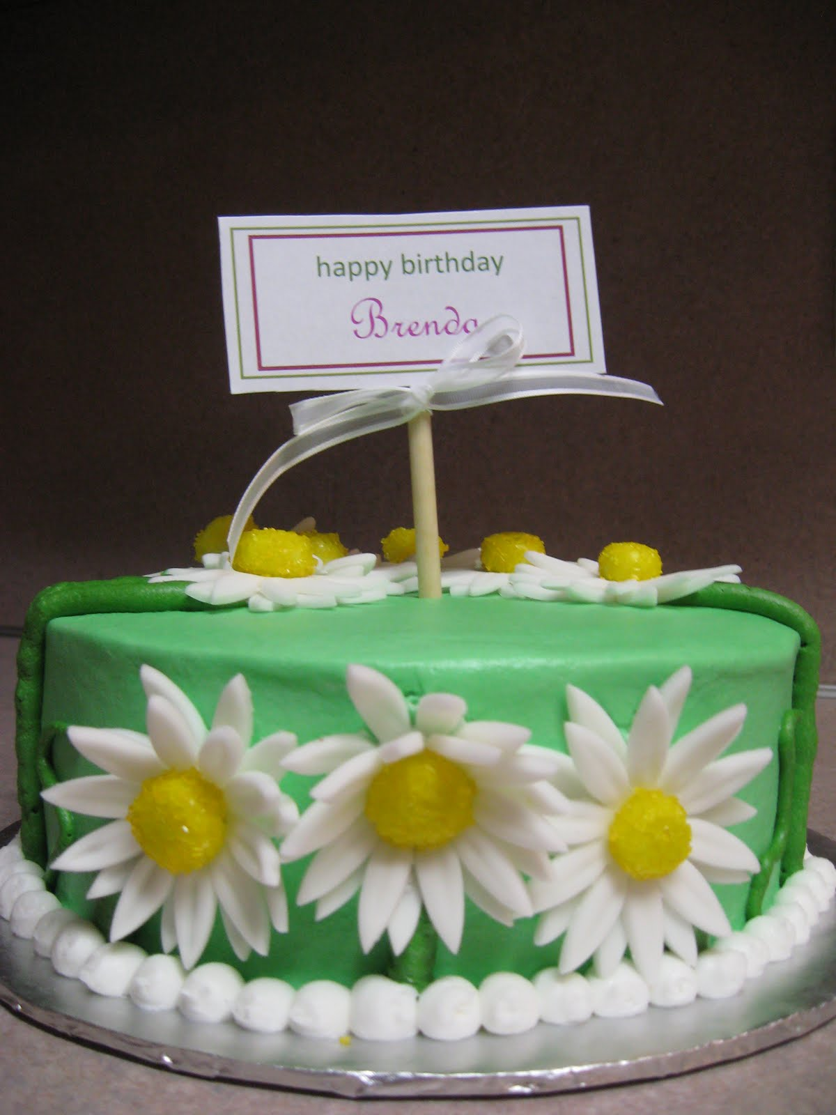 Delectable Sweets By The Smiths Daisy Birthday Cake