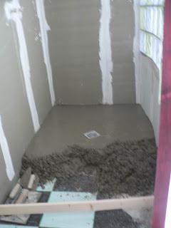 kiki et c dric r novent leur nouvelle maison sdb chape douche italienne. Black Bedroom Furniture Sets. Home Design Ideas