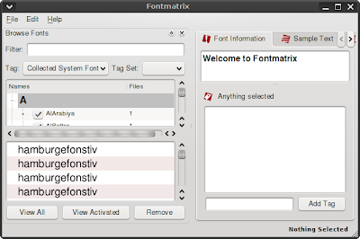 font viewer fontmatrix running on ubuntu
