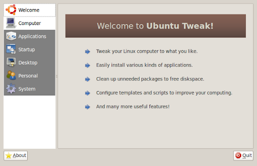 ubuntu tweak screenshot