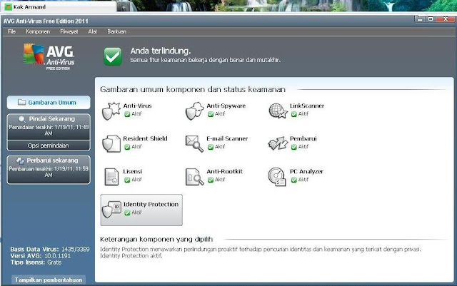 Preview AVG Anti-Virus Free Edition 2011