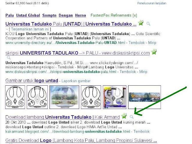hasil google dalam pencarian logo untad