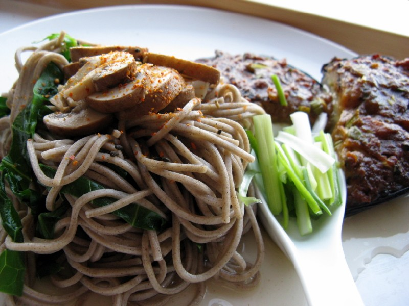 Hollow Legs: Miso Aubergine with Soba Noodles