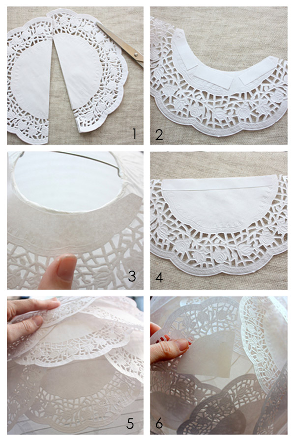 source: paper lace doily latern