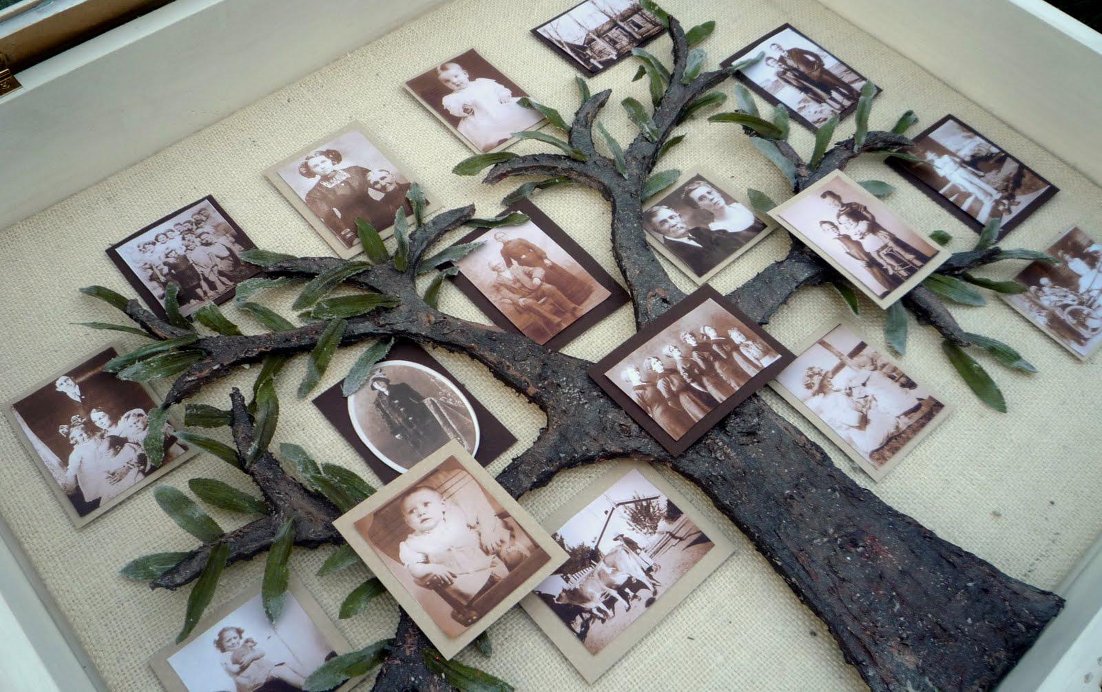 семейное дерево своими руками нарисовать на бумаге