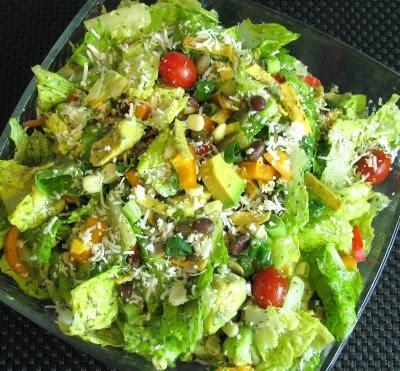 Interesting: Southwestern Salad with Cilantro Lime Vinaigrette