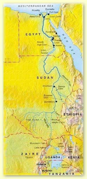 The Longest River In The World Nile - World map the nile river