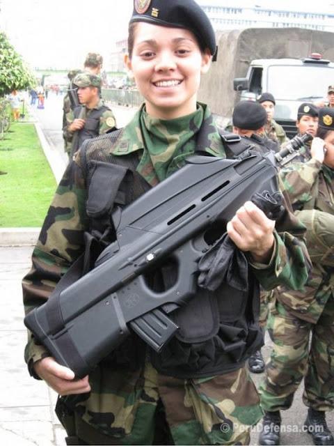 Peruvian Military Girl