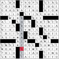 Hit bottom crossword