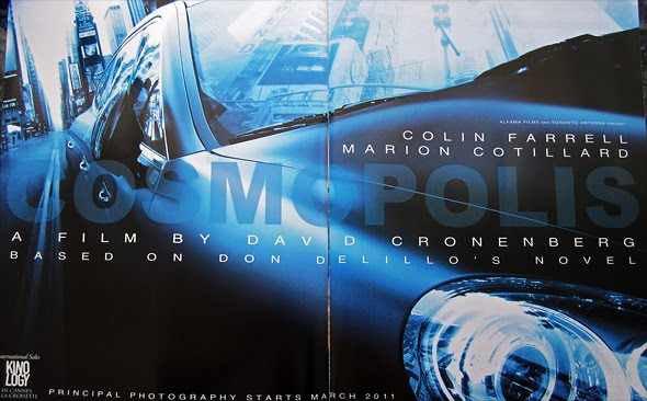 Early promotional art for David Cronenberg's 'Cosmopolis'