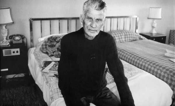 Samuel Beckett in London. {hotograph by John Minihan.