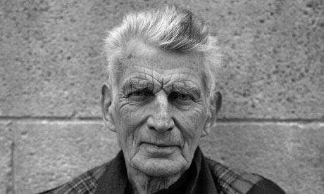 Samuel Beckett in exile in Paris, 1986. Photograph: Bob Adelman/Corbis
