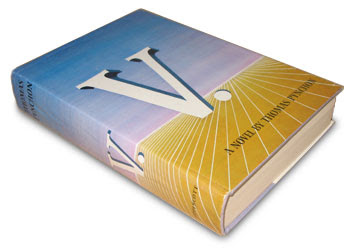 Hardcover copy of Thomas Pynchon's 'V'