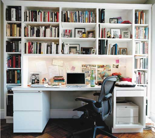 Siri Hustvedt's writing desk. Photograph: Eamonn McCabe