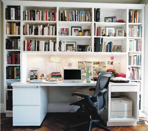 Siri Hustvedt's writing desk. Photograph: Eamonn McCabe