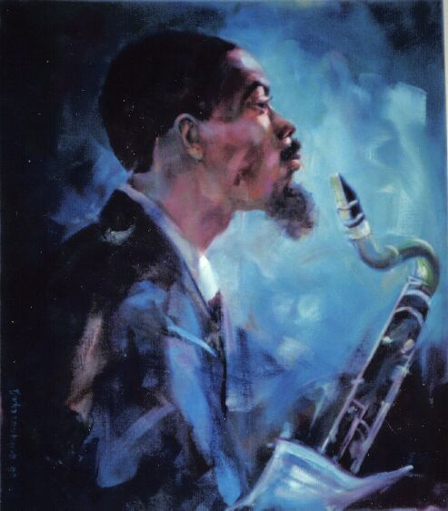 Eric Dolphy. Painting by Tjarko ten Have