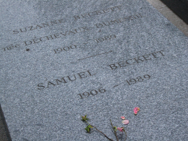 The gravestone of Samuel Beckett, at the Cimitière de Montparnasse, Paris. Photograph by Rhys Tranter.