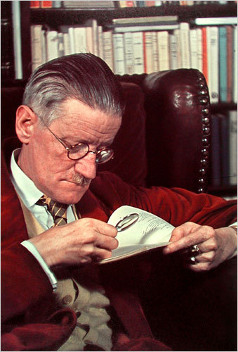 Colour photograph of James Joyce, 1939.