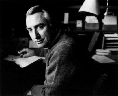 Roland Barthes at his desk