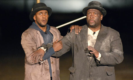 Kyle Manzay, left, and Wendell Pierce perform Waiting for Godot in New Orleans