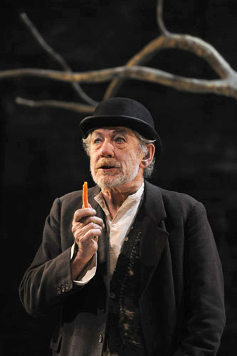 Iain McKellen as Estragon in the UK revival of Samuel Beckett's 'Waiting for Godot'