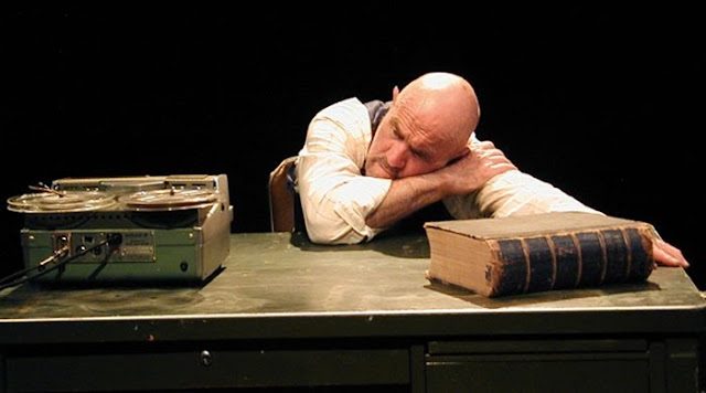 Krapp (played by Paul Gerrior) in Samuel Beckett's 1958 work 'Krapp's Last Tape.' Photograph by Rob Melrose