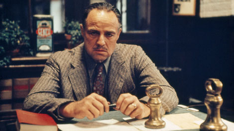 Marlon Brando as Don Vito Corleone in Francis Ford Coppola's The Godfather
