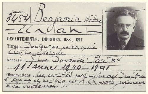 Walter Benjamin's library card