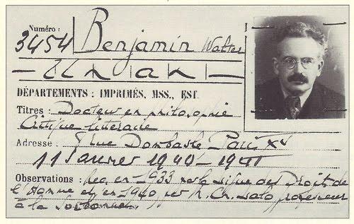 Walter Benjamin's library card