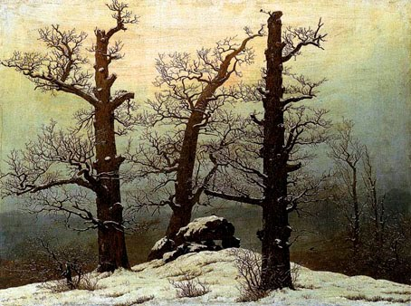Caspar David Friedrich, 'Dolmen in the Snow (1807).'