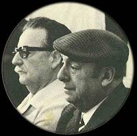 Pablo Neruda y Salvador Allende