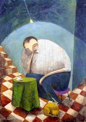 Mirando el café, Carlos C. Laínez
