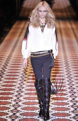 Gucci Fall 08 RTW Fringe boots