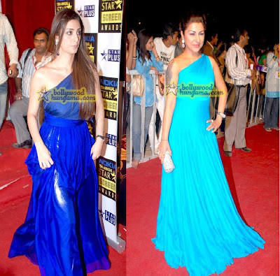 Tabu Aishwarya Rai Hard Kaur Nokia 15th Star Screen Awards blue gown