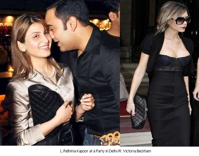 Ridhima Kapoor Delhi party chanel clutch
