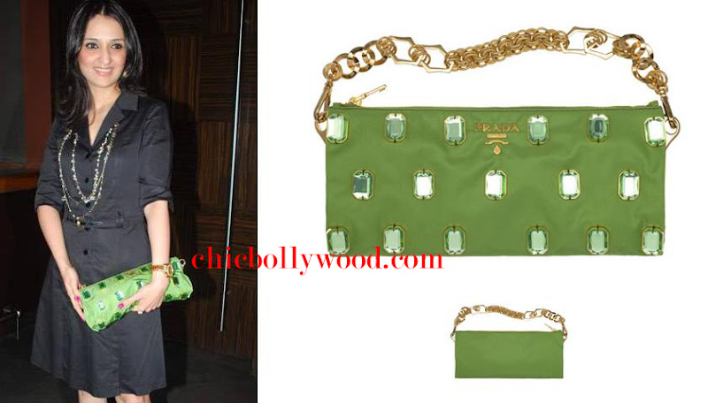 Anu Deewan Falguni and Shane Peacock Party Prada clutch