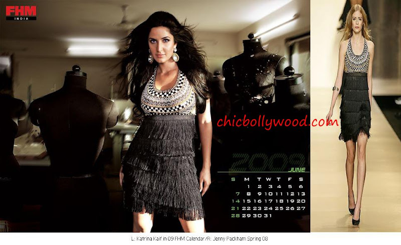 Katrina Kaif FHM calendar June 09 Jenny Packham Fringe dress