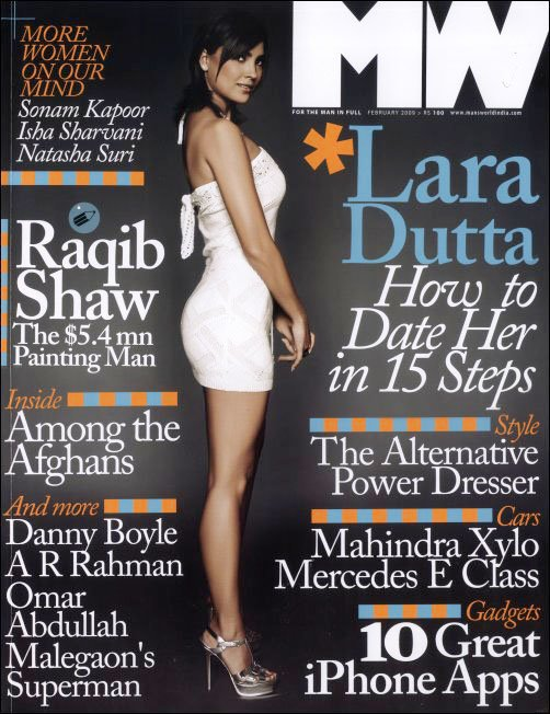 Lara Dutta MW magazine cover YSL Tribute Sandals