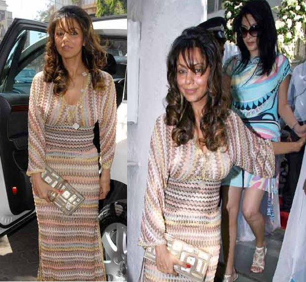 Gauri Khan Amrita Arora Wedding MIssoni dress