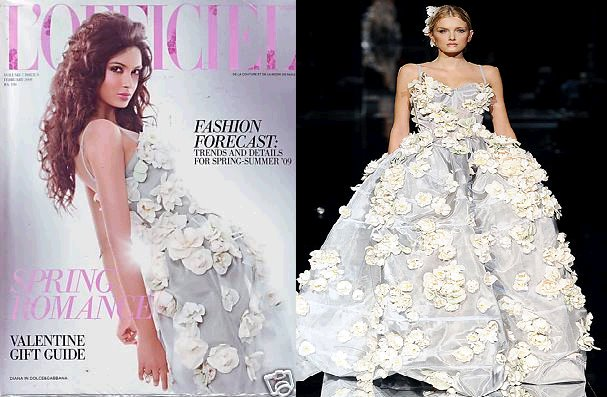 Diana Penty L'Officiel India Magazine Dolce Gabbana gown