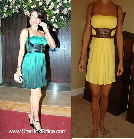 Malaika Arora Khan green sky dress Queenies Jewels store launch