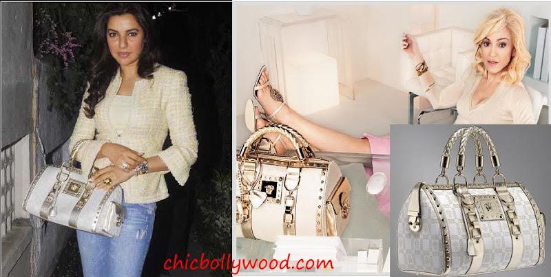 Kahkashan Patel Myrah Spa Versace Madonna Bag